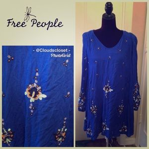 FREE PEOPLE VISCOSE LINED PEASANT STYLE DRESS XS